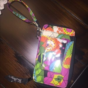 Vera Bradley All in One ID Wristlet in Vava Bloom